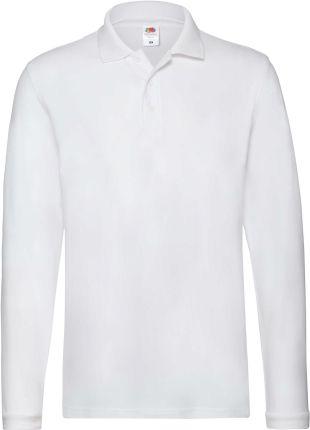 Koszulka męska Premium Polo z długim rękawem Fruit Of The Loom - Ceny i opinie T-shirty i koszulki męskie NMHQ