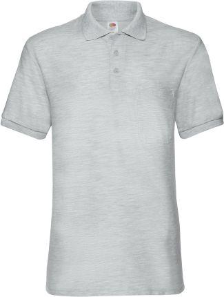 Koszulka męska 65/35 Pocket Polo Fruit Of The Loom - Heather Grey - Ceny i opinie T-shirty i koszulki męskie STEH