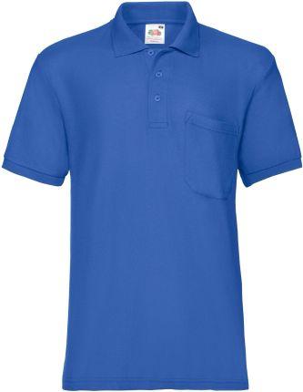 Koszulka męska 65/35 Pocket Polo Fruit Of The Loom - Niebieski - Ceny i opinie T-shirty i koszulki męskie WMJB