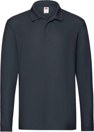 Koszulka męska Premium Polo z długim rękawem Fruit Of The Loom - Ceny i opinie T-shirty i koszulki męskie TXHY