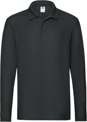 Koszulka męska Premium Polo z długim rękawem Fruit Of The Loom - Ceny i opinie T-shirty i koszulki męskie ZASP