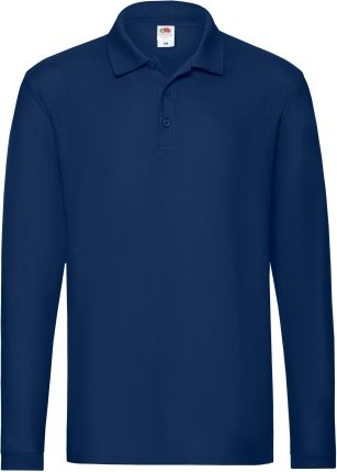 Koszulka męska Premium Polo z długim rękawem Fruit Of The Loom - Ceny i opinie T-shirty i koszulki męskie JMVX
