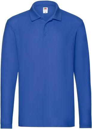 Koszulka męska Premium Polo z długim rękawem Fruit Of The Loom - Ceny i opinie T-shirty i koszulki męskie JNQI