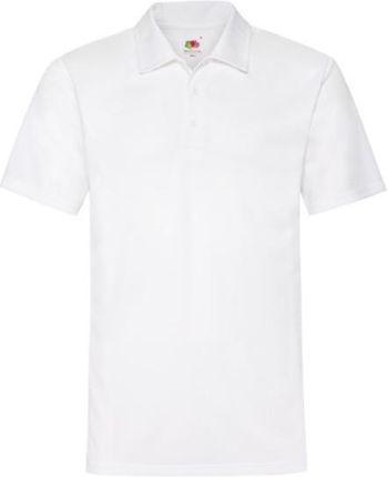 Koszulka męska Polo Performance Fruit of the Loom - Biały - Ceny i opinie T-shirty i koszulki męskie CUEZ