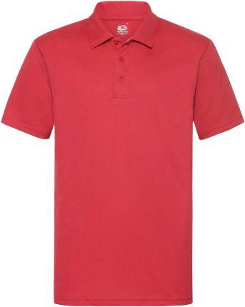 Koszulka męska Polo Performance Fruit of the Loom - Czerwony - Ceny i opinie T-shirty i koszulki męskie FSAI