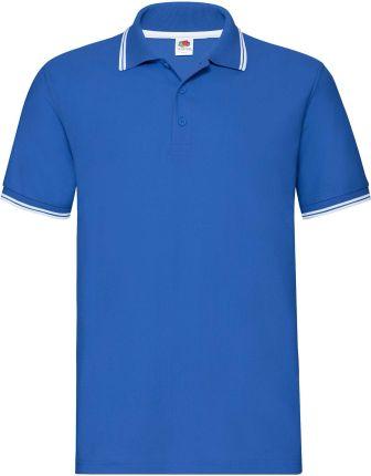 Koszulka męska Tipped Polo Fruit Of The Loom - Ciemnoniebieski/Biały - Ceny i opinie T-shirty i koszulki męskie NEQW