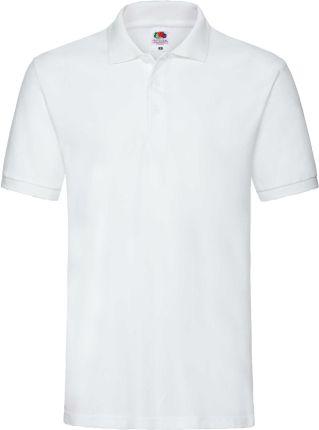 Koszulka męska Premium Polo Fruit Of The Loom - Biały - Ceny i opinie T-shirty i koszulki męskie CJOM