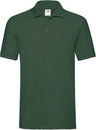 Koszulka męska Premium Polo Fruit Of The Loom - Butelkowy zielony - Ceny i opinie T-shirty i koszulki męskie LCEJ
