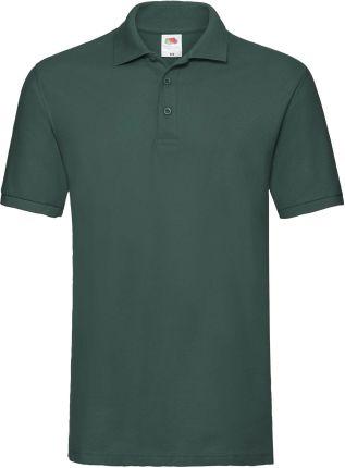 Koszulka męska Premium Polo Fruit Of The Loom - Leśny Zielony - Ceny i opinie T-shirty i koszulki męskie FHGQ