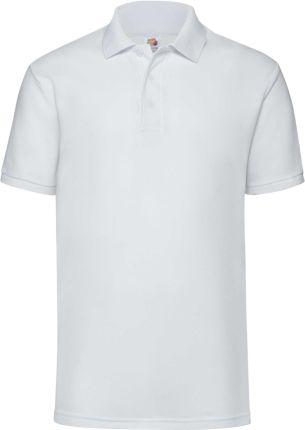 Koszulka męska 65/35 Polo Fruit Of The Loom - Biały - Ceny i opinie T-shirty i koszulki męskie IRUW