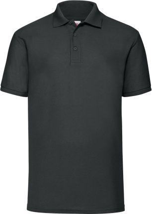 Koszulka męska 65/35 Polo Fruit Of The Loom - Czarny - Ceny i opinie T-shirty i koszulki męskie XIRR