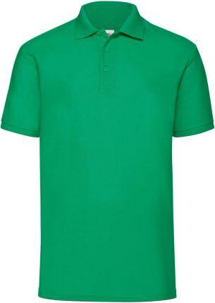 Koszulka męska 65/35 Polo Fruit Of The Loom - Zielony - Ceny i opinie T-shirty i koszulki męskie YBMF