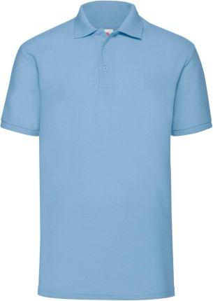 Koszulka męska 65/35 Polo Fruit Of The Loom - Błękitny - Ceny i opinie T-shirty i koszulki męskie CRUU