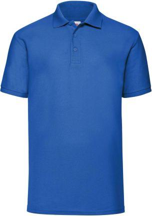 Koszulka męska 65/35 Polo Fruit Of The Loom - Niebieski - Ceny i opinie T-shirty i koszulki męskie XYBI