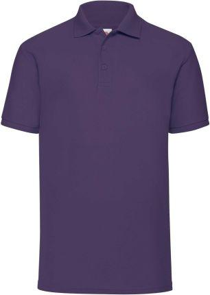 Koszulka męska 65/35 Polo Fruit Of The Loom - Fioletowy - Ceny i opinie T-shirty i koszulki męskie TBVL