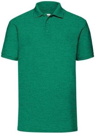 Koszulka męska 65/35 Polo Fruit Of The Loom - Retro Heather Green - Ceny i opinie T-shirty i koszulki męskie AXUK