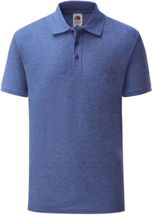Koszulka męska 65/35 Polo Fruit Of The Loom - Retro Heather Royal - Ceny i opinie T-shirty i koszulki męskie QBCE