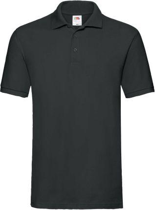 Koszulka męska Premium Polo Fruit Of The Loom - Czarny - Ceny i opinie T-shirty i koszulki męskie ILQF