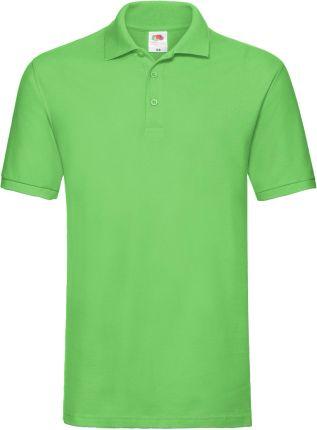 Koszulka męska Premium Polo Fruit Of The Loom - Limonkowy - Ceny i opinie T-shirty i koszulki męskie UVDM
