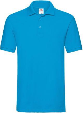 Koszulka męska Premium Polo Fruit Of The Loom - Azurowy - Ceny i opinie T-shirty i koszulki męskie RVUE