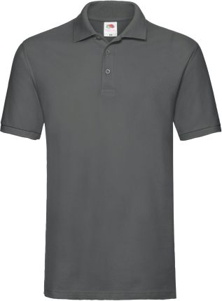 Koszulka męska Premium Polo Fruit Of The Loom - Light Graphite - Ceny i opinie T-shirty i koszulki męskie EMCM
