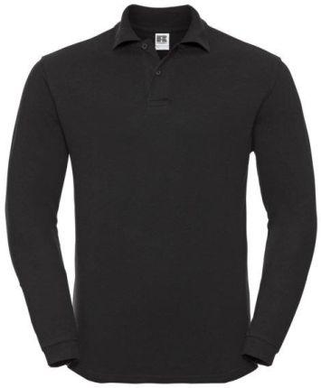 Koszulka męska Polo z długim rękawem Russell - Ceny i opinie T-shirty i koszulki męskie HULD