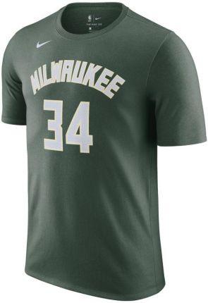Nike T shirt męski NBA Nike Giannis Antetokounmpo Bucks Zieleń - Ceny i opinie T-shirty i koszulki męskie SOYI