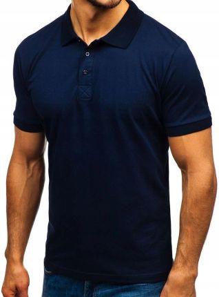 Koszulka Męska Polo Granatowa 171221 Rozmiar m - Ceny i opinie T-shirty i koszulki męskie KRYG