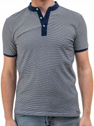 Polo koszulka męska stÓjka wzÓr bawełna blue L - Ceny i opinie T-shirty i koszulki męskie EGXI