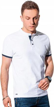 Koszulka męska polo bawełniana S1381 biała XL - Ceny i opinie T-shirty i koszulki męskie HQRE
