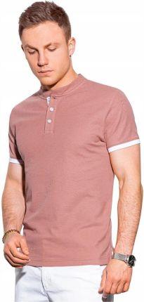 Koszulka męska polo bawełniana S1381 rÓżowa S - Ceny i opinie T-shirty i koszulki męskie XEEU