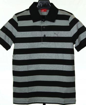 Koszulka Puma Polo Striped Jersey Fe 813568 01 S - Ceny i opinie T-shirty i koszulki męskie HXQZ