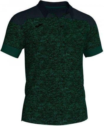 Joma Polo Shirt Winner II Cotton Green Black S S - Ceny i opinie T-shirty i koszulki męskie LFCD