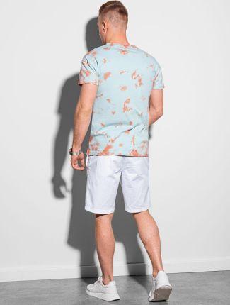 T shirt męski bawełniany S1372 miętowy S - Ceny i opinie T-shirty i koszulki męskie AHYZ