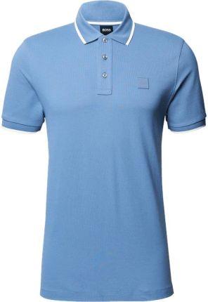 Koszulka polo z paskami w kontrastowym kolorze - Ceny i opinie T-shirty i koszulki męskie CFHE