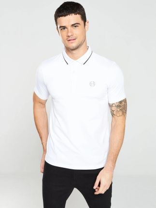 Armani Exchange Biała Koszulka Polo Z Logo xxl - Ceny i opinie T-shirty i koszulki męskie EQCO