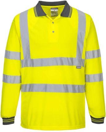 Koszulka ostrzegawcza polo Portwest ŻÓłty 6XL - Ceny i opinie T-shirty i koszulki męskie LHRA