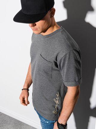 T shirt męski bez nadruku S1371 czarny S - Ceny i opinie T-shirty i koszulki męskie SIUL