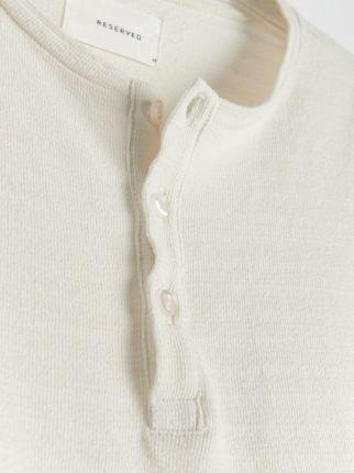 Reserved Strukturalna koszulka polo Kremowy - Ceny i opinie T-shirty i koszulki męskie QAEG