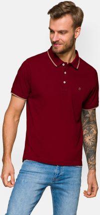Koszulka Bordowa Polo Dominic - Ceny i opinie T-shirty i koszulki męskie IISC