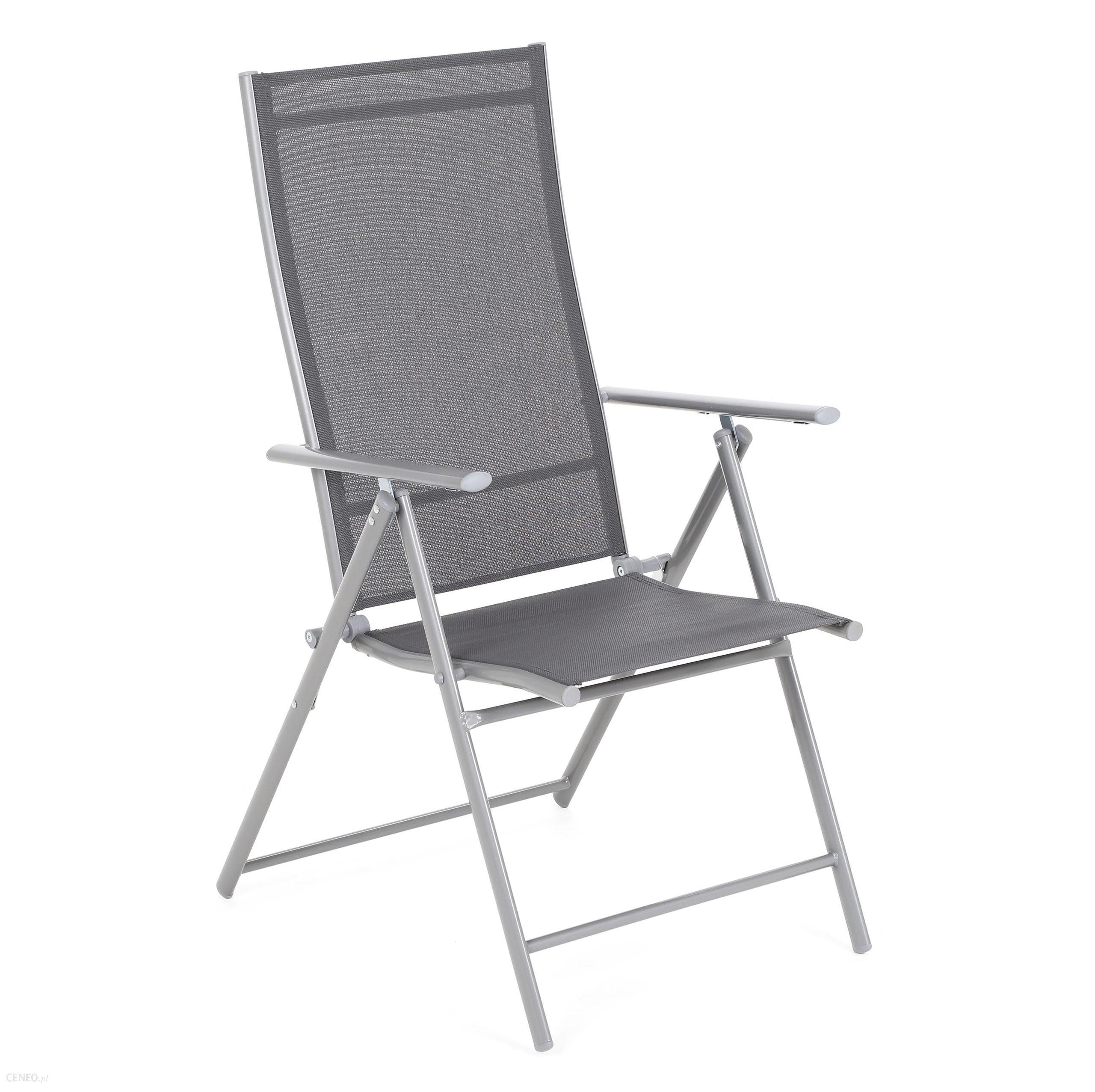 Vidaxl Krzesło Ogrodowe Metalowe Casablanca Silver / Grey