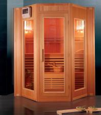Metalowiec Sauna Sucha Fińska F3 3-Osobowa 175X160Cm Komplet