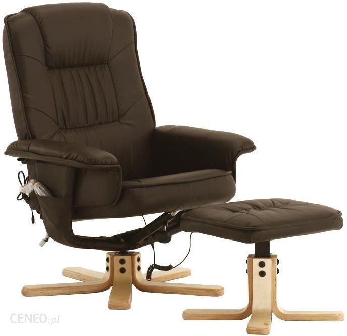 Regoline Brązowy Fotel Masaż Wypoczynkowy Biurowy Masaż Ogrzewanie Brązowy 4400003