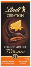Lindt Czekolada Creation 70% Mousse Orange 150G