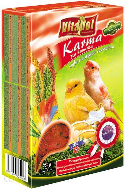 VITAPOL Karma dla kanarka wybarwiająca czerwona 350g