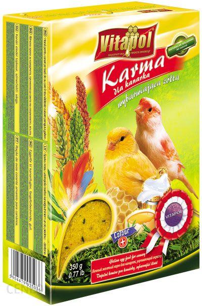 VITAPOL Karma dla kanarka wybarwiająca żółta 350g