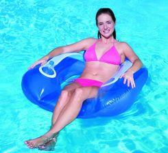fef90ad8ca03a6 Bestway Fotel do pływania z oparciem 102 x 94cm 43097 NIEBIESKI - zdjęcie 1