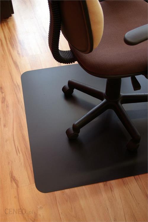 Cudowna Mata ochronna pod krzesło obrotowe, ergonomiczna, CZARNA, wielkość AM72
