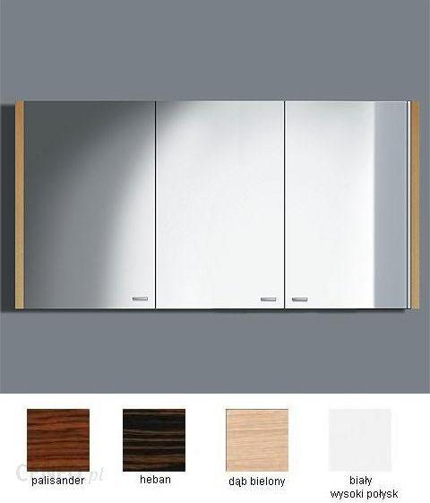 Duravit 2nd Floor Lustro łazienkowe Z Oświetleniem I Szafką Biały Wysoki Połysk 120x62cm 9653 85