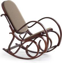 fotel bujany drewniany d583